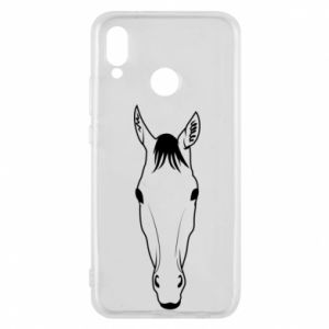 Phone case for Huawei P20 Lite Horse portrait with lines