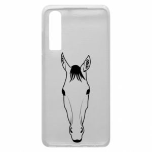 Etui na Huawei P30 Horse portrait with lines