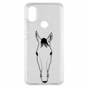 Etui na Xiaomi Mi A2 Horse portrait with lines