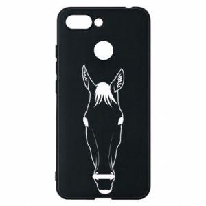 Etui na Xiaomi Redmi 6 Horse portrait with lines