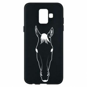 Etui na Samsung A6 2018 Horse portrait with lines