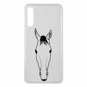 Etui na Samsung A7 2018 Horse portrait with lines