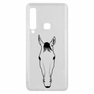 Etui na Samsung A9 2018 Horse portrait with lines
