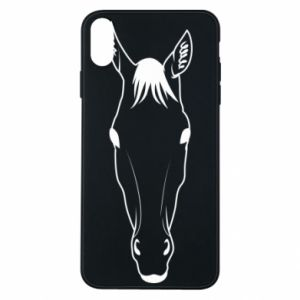 Etui na iPhone Xs Max Horse portrait with lines