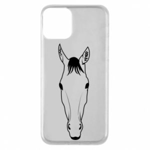 Etui na iPhone 11 Horse portrait with lines