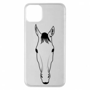 Etui na iPhone 11 Pro Max Horse portrait with lines