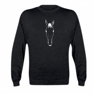 Bluza dziecięca Horse portrait with lines