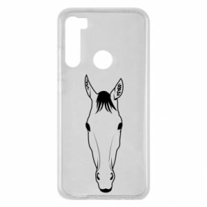 Etui na Xiaomi Redmi Note 8 Horse portrait with lines