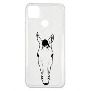 Xiaomi Redmi 9c Case Horse portrait with lines