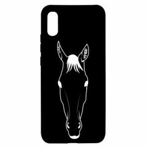 Etui na Xiaomi Redmi 9a Horse portrait with lines