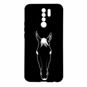 Etui na Xiaomi Redmi 9 Horse portrait with lines