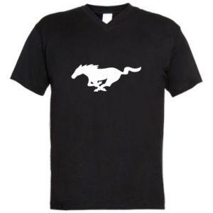 Męska koszulka V-neck Horse running - PrintSalon