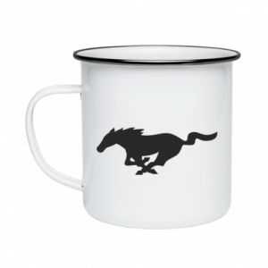 Kubek emaliowane Horse running - PrintSalon
