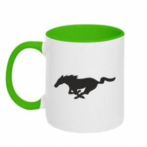 Kubek bicolor Horse running - PrintSalon
