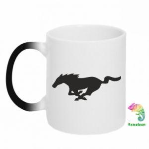 Kubek-kameleon Horse running - PrintSalon