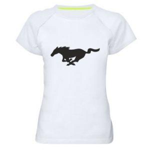 Damska koszulka sportowa Horse running - PrintSalon