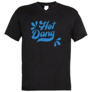 Męska koszulka V-neck Hot Dang