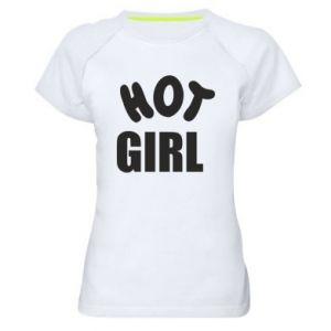 Damska koszulka sportowa Hot girl