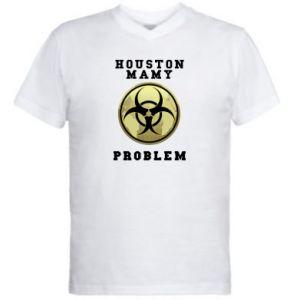 Męska koszulka V-neck Houston mamy problem