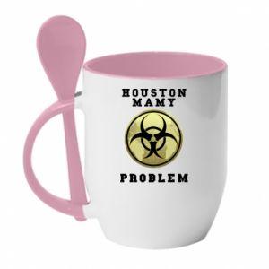 Kubek z ceramiczną łyżeczką Houston mamy problem