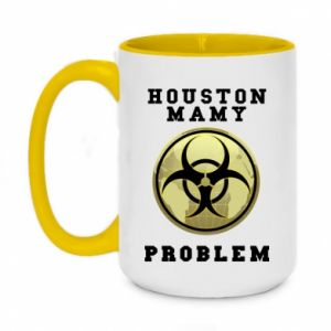 Two-toned mug 450ml Houston we have a problem