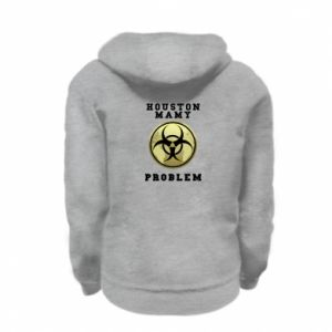 Kid's zipped hoodie % print% Houston we have a problem