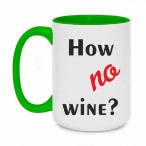 Kubek dwukolorowy 450ml How no wine?