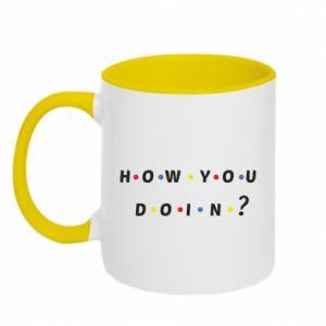 Kubek dwukolorowy How You Doing? - PrintSalon