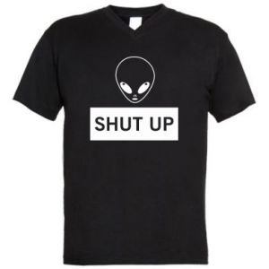 Męska koszulka V-neck Hsut up Alien