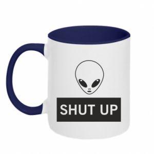 Kubek dwukolorowy Hsut up Alien