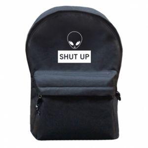 Backpack with front pocket Hsut up Alien