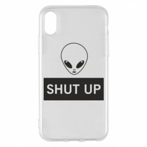 Phone case for iPhone X/Xs Hsut up Alien