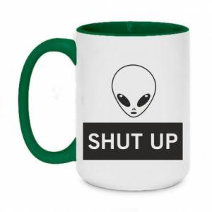 Two-toned mug 450ml Hsut up Alien