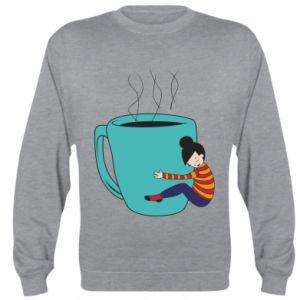Bluza (raglan) Hugging a cup of coffee