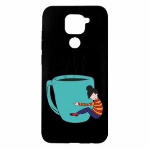 Etui na Xiaomi Redmi Note 9/Redmi 10X Hugging a cup of coffee