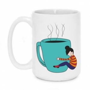 Kubek 450ml Hugging a cup of coffee