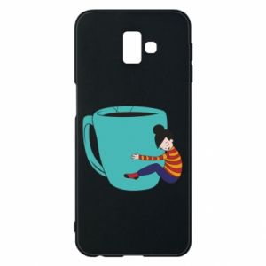 Phone case for Samsung J6 Plus 2018 Hugging a cup of coffee - PrintSalon