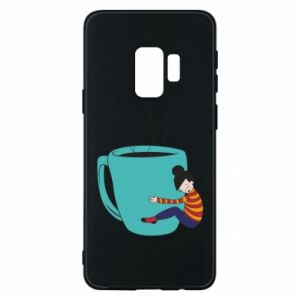 Phone case for Samsung S9 Hugging a cup of coffee - PrintSalon