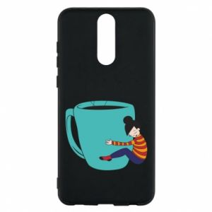 Phone case for Huawei Mate 10 Lite Hugging a cup of coffee - PrintSalon