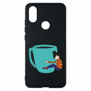Phone case for Xiaomi Mi A2 Hugging a cup of coffee - PrintSalon