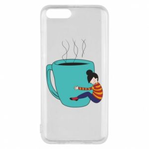 Phone case for Xiaomi Mi6 Hugging a cup of coffee - PrintSalon