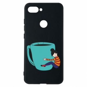 Phone case for Xiaomi Mi8 Lite Hugging a cup of coffee