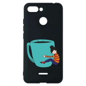 Phone case for Xiaomi Redmi 6 Hugging a cup of coffee