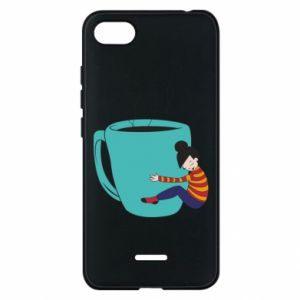 Phone case for Xiaomi Redmi 6A Hugging a cup of coffee - PrintSalon