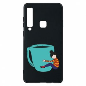 Phone case for Samsung A9 2018 Hugging a cup of coffee - PrintSalon