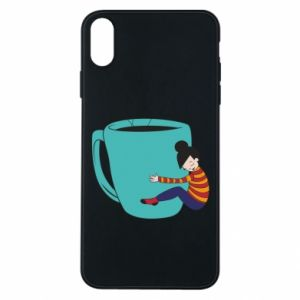 Etui na iPhone Xs Max Hugging a cup of coffee