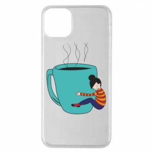 Etui na iPhone 11 Pro Max Hugging a cup of coffee