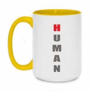 Kubek dwukolorowy 450ml Human