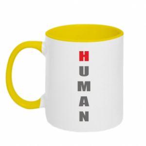 Kubek dwukolorowy Human