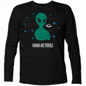 Koszulka z długim rękawem Humans are terrible - PrintSalon